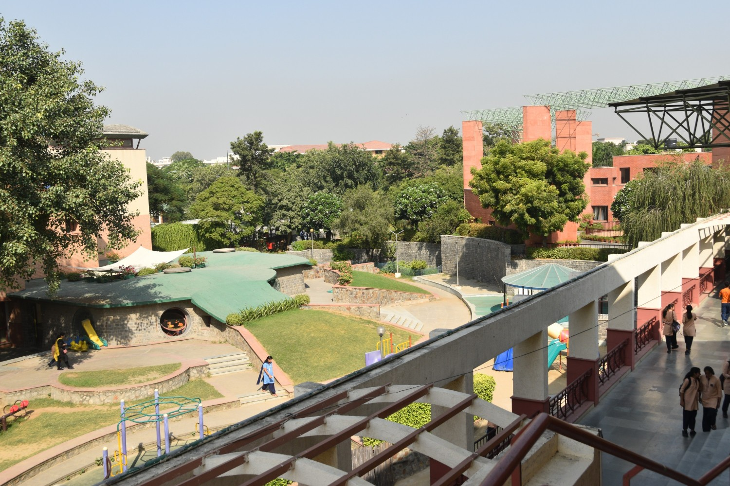 View of the school from top of the auditorium
